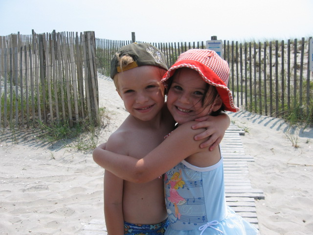 Two Adorable Kids on the Beautiful Jersey Shore Beach